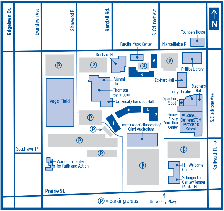 Aurora University Map AU   Parking